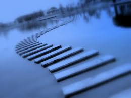 steps in water